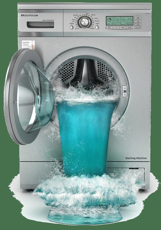 overflowing-washing-machine-causing-flood-in-home