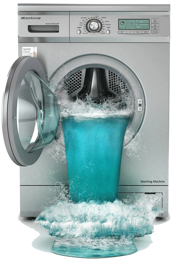 washing machine water cleanup & mitigation in Burton