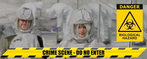 biohazard and crime scene experts