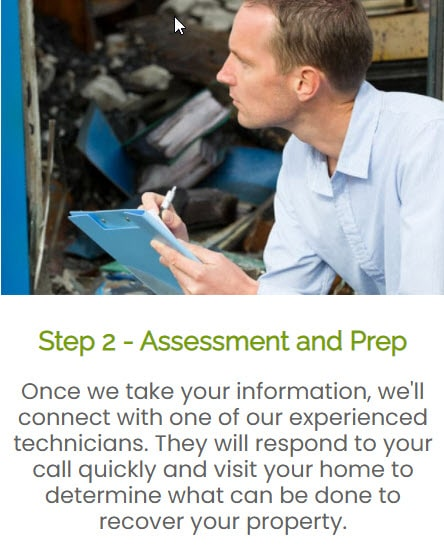 assessment, inspection and prep work
